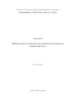 prikaz prve stranice dokumenta Primjena novih tehnologija za ekstrakciju polifenola iz komine borovnice
