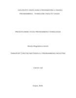 prikaz prve stranice dokumenta Transport čvrstog materijala u prehrambenoj industriji