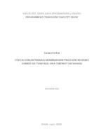 prikaz prve stranice dokumenta Utjecaj koncentriranja membranskim procesom reverzne osmoze na tvari boje vina Cabernet Sauvignon