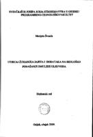 prikaz prve stranice dokumenta Utjecaj žumanjka jajeta i dodataka na reološko ponašanje emulzije ulje/voda