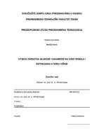 prikaz prve stranice dokumenta Utjecaj dodatka glukoze i saharoze na udio fenola i antocijana u soku višnje