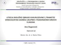 prikaz prve stranice dokumenta Utjecaj biološke obrade kukuruzovine s Trametes versicolor na sadržaj ukupnih i pojedinačnih sirovih vlakana